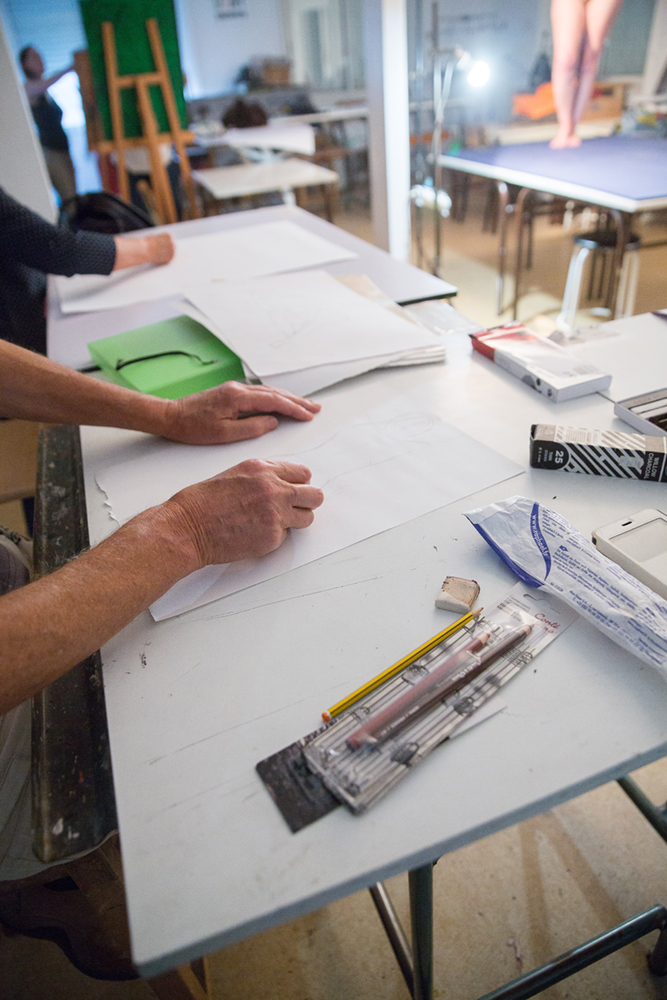 Atelier dessin de nu