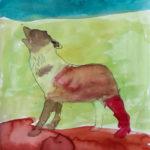 Peinture enfant loup