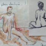 Dessin et peinture femme et homme nus