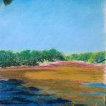 Paysage couleur aux pastels