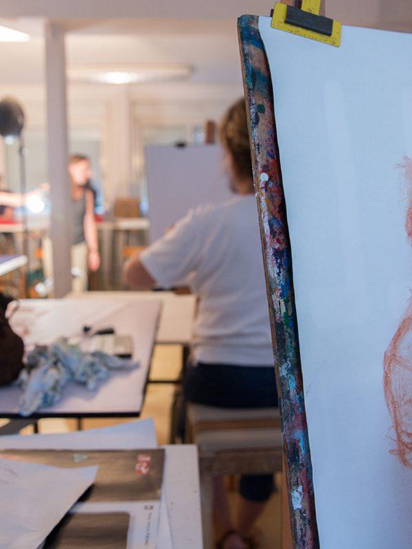 Atelier modèle vivant à Concarneau
